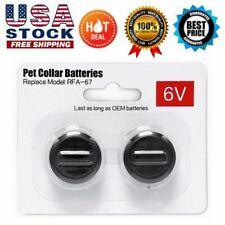 New listing 2Pcs 6V Pet Collar Batteries For PetSafe Rfa-67 6 Volt 100% Replacement Battery