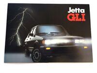 1984 Volkswagen VW Jetta GLI Original Canada Car Sales Brochure