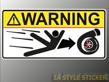 Warning Turbo Aufkleber auto turbo fun Sticker haters dub ome illest dapper d19