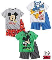 Disney Mickey Mouse Donald Duck Boys Pyjamas Set Age 3 4 5 6 8 100% Cotton New