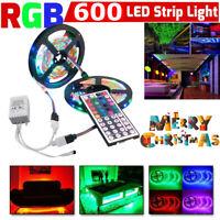 10M 3528 SMD RGB 600 LED Lighting Strips 44 Key Remote Controller For Bar Room