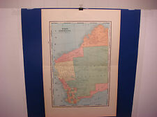 "1903 Cram's Atlas Map 2 Page,West Australia,Nice Color,Suitable To Frame 14""X21"""