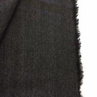 4 Metres Dark Grey Herringbone Striped Pure Wool Suit Fabric. (340g)