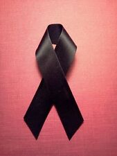 BLACK    SATIN    RIBBON   WITH PIN ATTACHEMENT