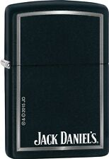 Zippo 2015 Catalog Jack Daniel's Daniels Black Matte Windproof Lighter 28820 NEW
