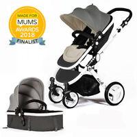 Allis Baby Pram Pushchair Buggy Stroller CarryCot Rain Cover FREE Car Seat Adapt