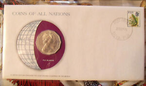 Coins of All Nations Fiji 50 cents 1976 UNC