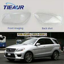 Right+Left Headlight Lens Cover Headlamp Shell Fit For Benz W166 2012-2016