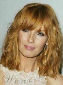 Hot Top Wig New Fashion Glamour Women's Medium Blonde Brown Wavy Natural Wigs