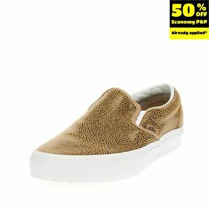 VANS 500714 Leather Sneakers Mismatch Size L 38 R 37 Coated Spotted Slip On