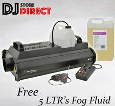 QTX QTFX-2000 MKII POWERFUL FOG SMOKE MACHINE + WIRELESS REMOTE +5 LTR FOG FLUID
