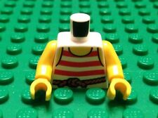 NEW / Lego Pirate Mini- Figure Torso / White Shirt / Arms & Hand / 6097241