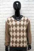 SUN68 Uomo XL Maglione in Cashmere Uomo Maglia Cardigan Pullover Sweater Man