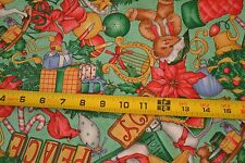 "By 1/2 Yd, 42"" Wide, ""Christmas Memories"" Quilting Cotton, Daisy Kingdom. M1730"