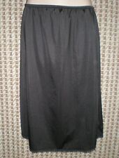 Vintage Sears Black Half Slip Made in USA Style 98804 Size M W:26-38 H:44 L:24