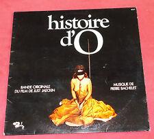 HISTOIRE D' O  LP BOF BACHELET  FILM DE JUST JAECKIN
