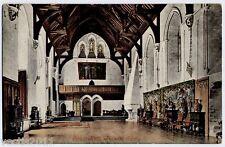 Arundel, Sussex, England Postcard - Castle Interior - 1906