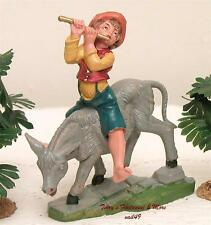 "Fontanini Depose Italy 4"" Color Pierro On Donkey Nativity Village Figure New"