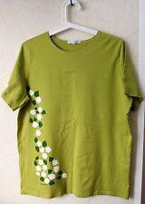 Marimekko MIKA PIIRAINEN Shirt Flowers Greenish Color Size L