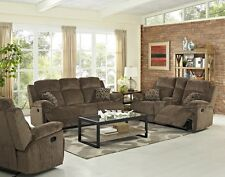 Rich Classic Design Reclining Sofa Loveseat & Recliner 3 Piece Set Living Room