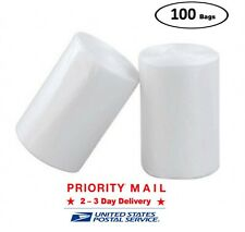 ccliners 4 Gallon Clear Small Garbage Bags bathroom Trash Bags, 100 Count
