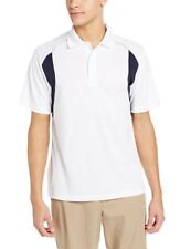 PGA Tour Men's Size Large White Blue Short Sleeve Air Flux Polo Top NEW SNAG