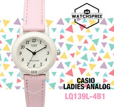 Casio Ladies LQ 139 L 4 B 1 Pink Genuine Leather Casual Dress Watch