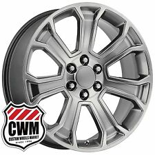 (1) 20 inch OE Performance 166H GMC Sierra Wheel Hyper Silver Rim 20x9 fit Chevy