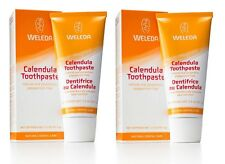 WELEDA CALENDULA TOOTHPASTE 2x75ml - PEPPERMINT FREE ORAL PROTECTION - VEGAN