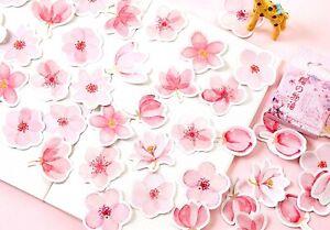 SAKURA FLOWER STICKERS Floral Japanese Scrapbook Journal Diary Craft Decoration