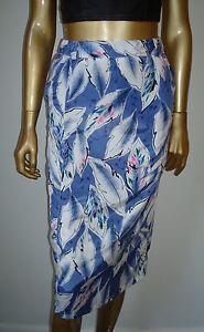 VINTAGE High Waist Pencil Straight  LEAVES Leaf Print DRESS SKIRT
