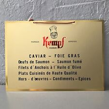 Vintage French Metal CAVIAR FOIE GRAS Wall Sign Plaque Tag 2305174