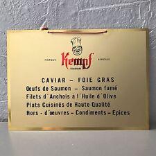 Vintage French Metal CAVIAR FOIE GRAS Wall Sign Plaque Tag 3110201