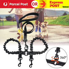Double Dog Coupler Twin Lead 2 Way Strap Two Pet Dogs Walking Leash Safety Chain