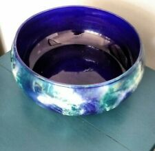 Vintage Lustre Ware Fruit Bowl Blue Unknown Age But Old