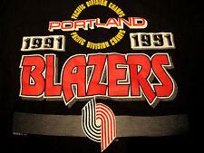 Rare Sz XL Portland Trailblazers Vintage '91 Pac Division Champs T Shirt Blazers