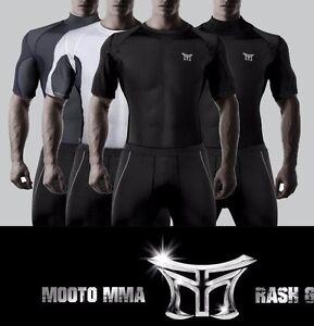 MOOTO MMA Rash Guard TShirts RashGuard Sports T-shirts Boxing Taekwondo 4colors