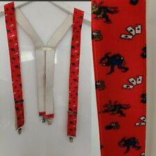 Adjustable Kids Braces Trousers Suspenders Children Boys Girls Party Red Joker
