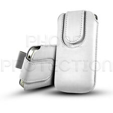 PU LEATHER BUTTON PULL TAB CASE POUCH WITH STRAP FOR SAMSUNG GALAXY MOBILES