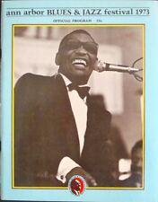 ANN ARBOR 1973 BLUES & JAZZ FESTIVAL concert program GARY GRIMSHAW RAY CHARLES