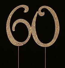 Numbrer 60 for 60th Birthday or Anniversary Cake Topper Party Decoration Supp...