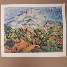 """Paul Cézanne """"La montagne Sainte-Victoire"""" lithography Braun&cie"""