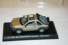 1/43 LAND ROVER FREELANDER OPEN BACK SILVER DETAIL CARS DISPLAY CASE AND BOX