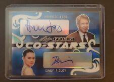 2020 Leaf Pop Century 1/1 Daisy Ridley Harrison Ford Blue Dual Auto Star Wars