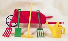 Ideal Garden Set Wheelbarrow Watering Can Shovel Rake 2 Spades Hard Plastic 1950