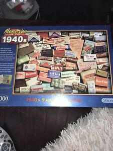 GIBSONS Memories Of The 1940's 1000 Piece Jigsaw Puzzle