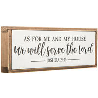 Joshua 24:15 Wooden Wall Plaque HOME DECOR