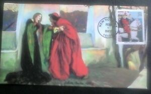 First day of issue, 2001 American Illustrators, Edwin Austin Abbey, #3502k