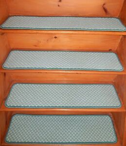 """13 = Step 9"""" x 36"""" + Landing 30"""" X 36"""" Stair Treads Staircase WOVEN WOOL Tufted."""