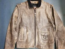 MOTORCYCLE HARLEY DAVIDSON LEATHER JACKET SIZE SMALL *** FREE FREIGHT ***